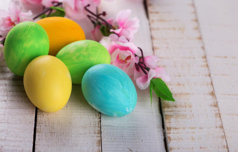 Фото обои цветы, яйца, Пасха, пасхальные яйца