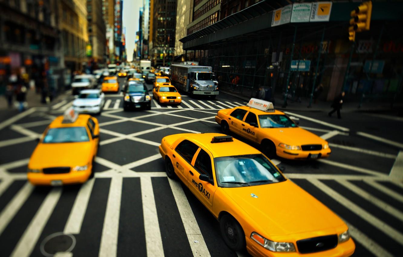 Обои такси, улица. Города foto 8