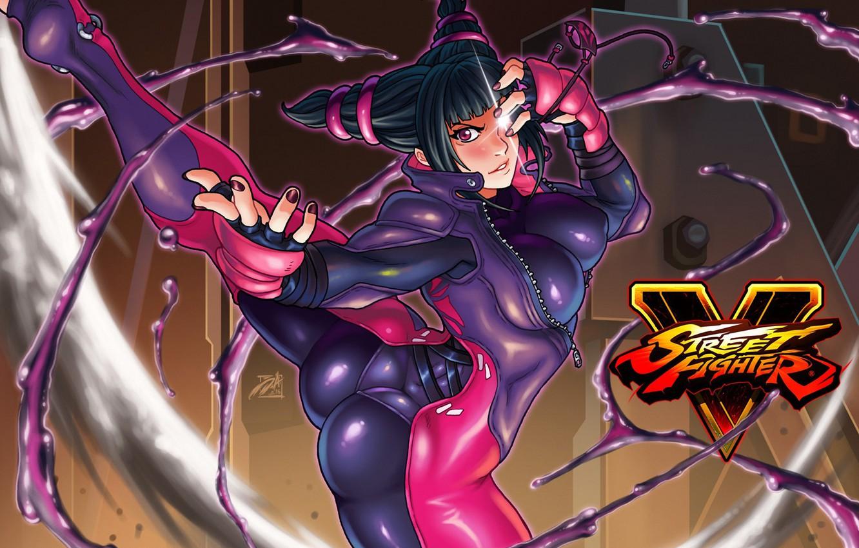 Фото обои попа, грудь, девушка, боец, Street Fighter, sf5, Juri Han, juri
