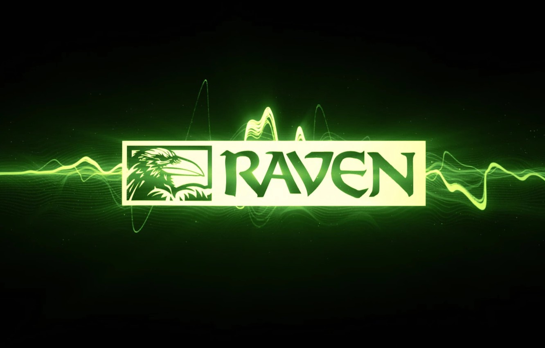 Фото обои игра, логотип, ворон, raven