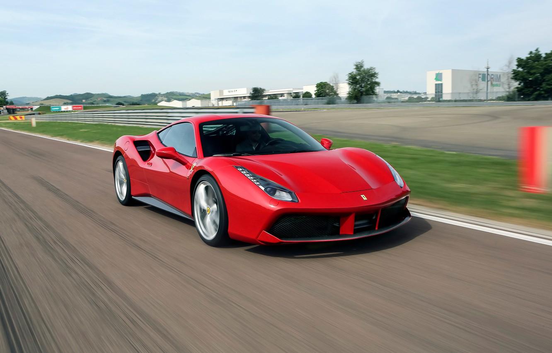 Фото обои Ferrari, GTB, 488