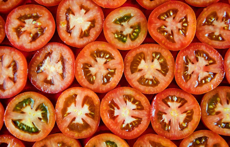 Фото обои фон, еда, помидоры