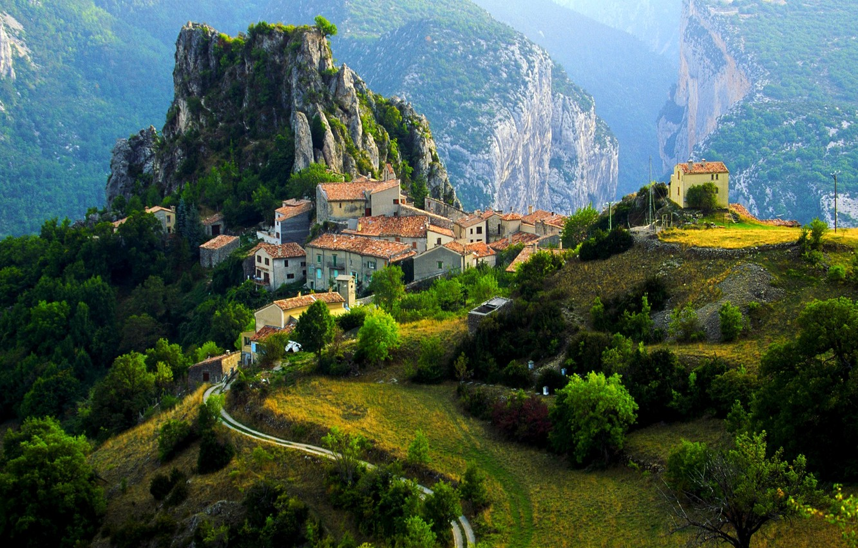 Обои альпы, городок, дома, деревня. Города foto 7