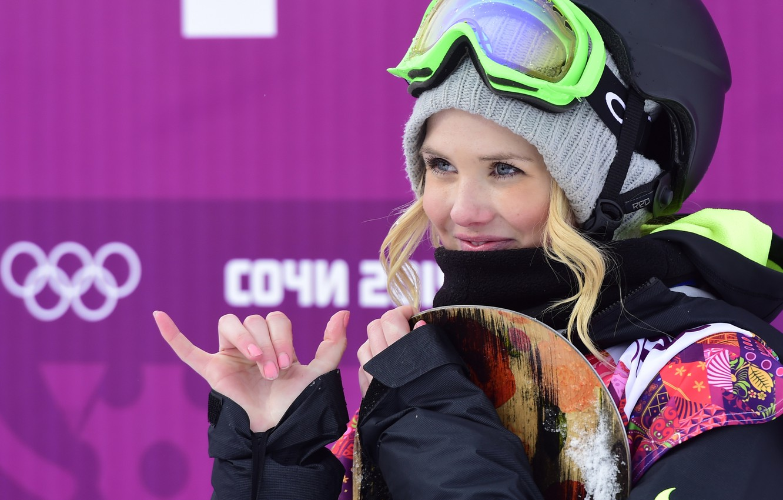 Фото обои сноуборд, snowboard, blonde, Norway, Сочи 2014, Sochi 2014, slopestyle, halfpipe, хаф-пайп, boardercross, Силье Норендаль, Silje …