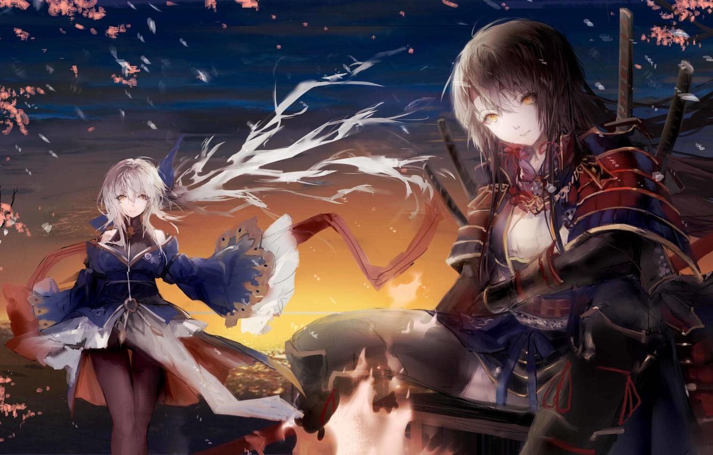 Фото обои девушки, арт, pixiv fantasia, sa'yuki