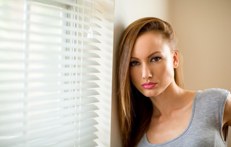 Фото обои взгляд, девушка, лицо, волосы, Ema