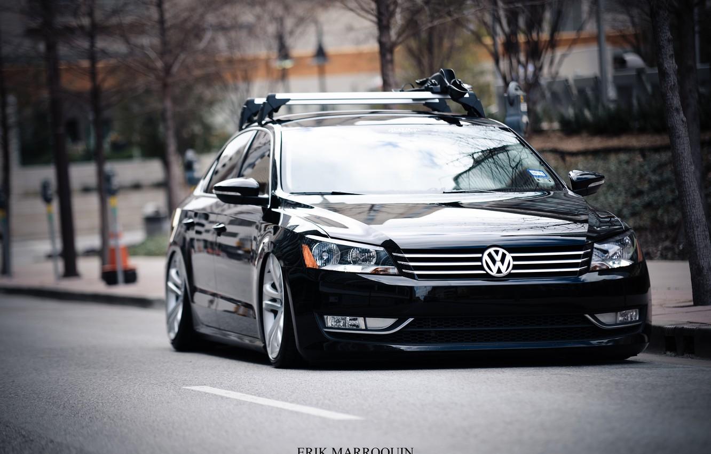 Фото обои Авто, Дорога, Volkswagen, 2013, Passat