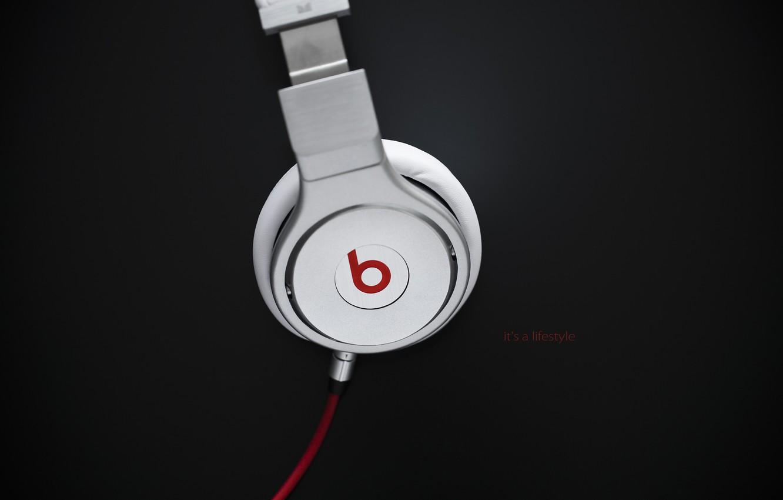 Фото обои музыка, надпись, music, наушники, лого, провод, logo, слова, headphones, 1920x1200, words, бренд, brand, lettering, beats …