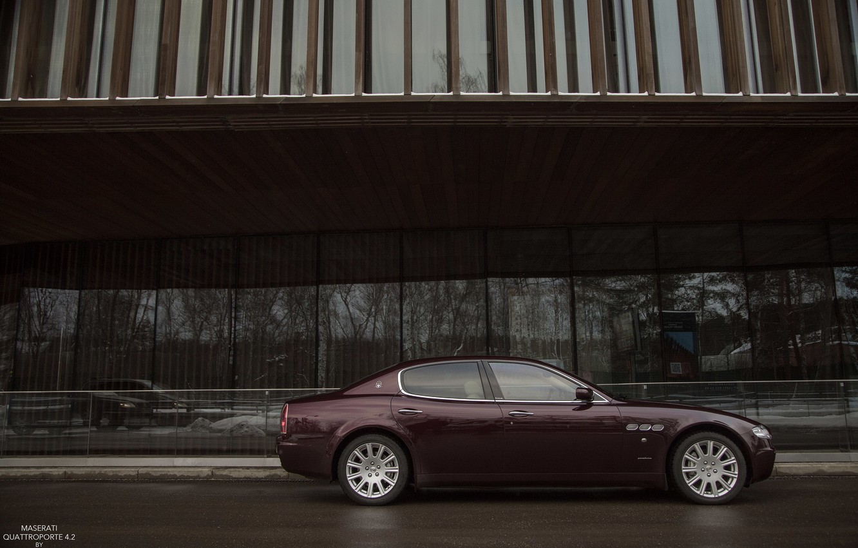 Фото обои машина, Maserati, Quattroporte, фотограф, auto, photography, photographer, бок, Alex Bazilev, Александр Базилев, Alexander Bazilev