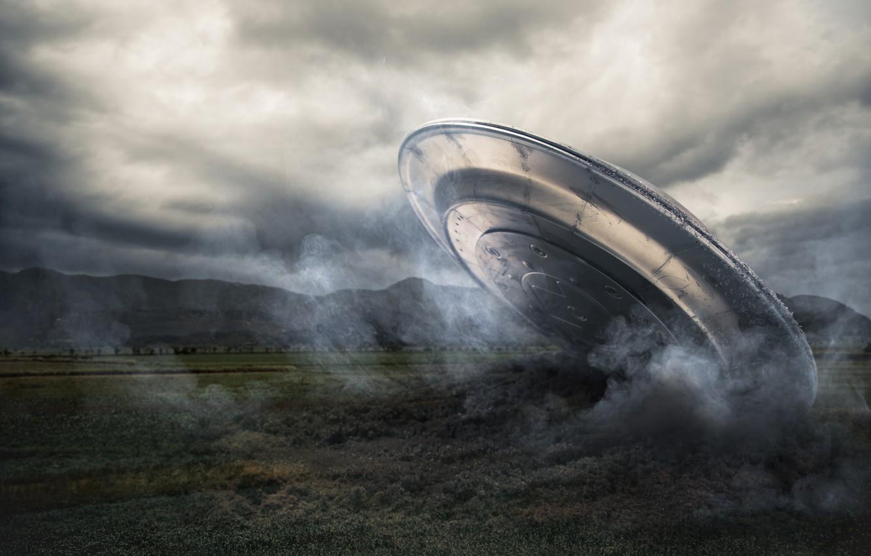 Фото обои spaceship, UFO, alien intelligence, plane crash
