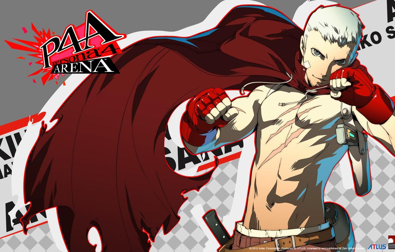 Фото обои парень, торс, шрамы, persona 4, sanada akihiko