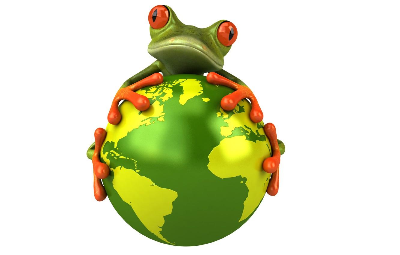 Фото обои глаза, взгляд, графика, планета, лягушка, Free frog 3d