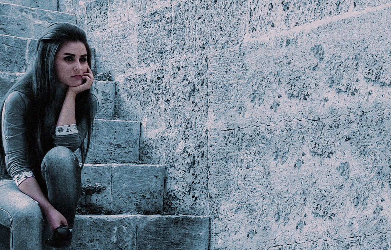 Фото обои Blue, Girls, Enas Lattouf
