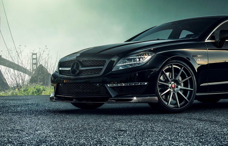 Фото обои черный, Mercedes-Benz, колесо, диск, седан, мерседес, AMG, Black, Sedan, C218, CLS 63, 2015, CLK-Class