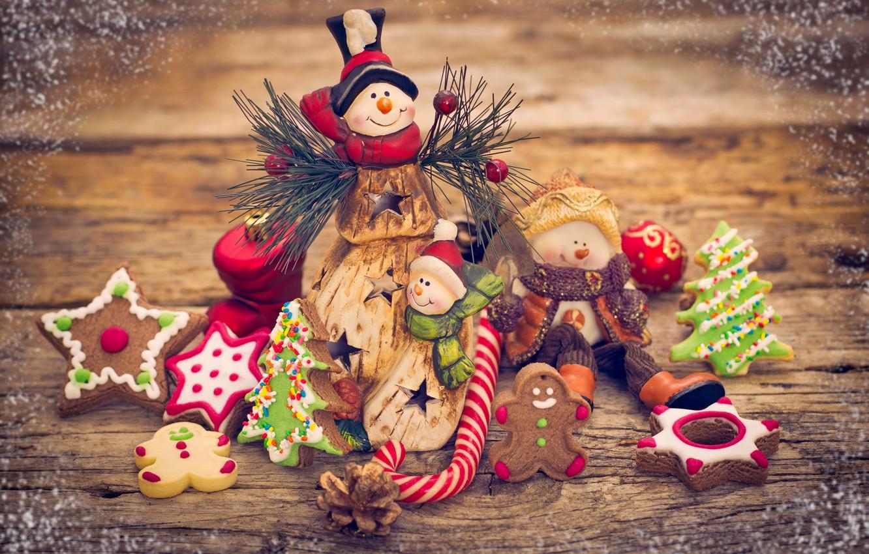 Обои decoration, рождество, xmas, cookies, Merry, christmas. Новый год foto 15