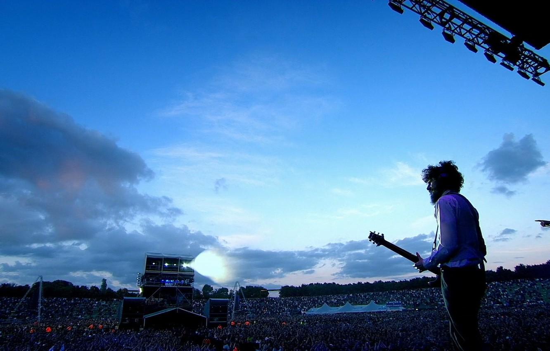 Фото обои толпа, гитара, концерт, rock, linkin park, Bradford Philip Delson