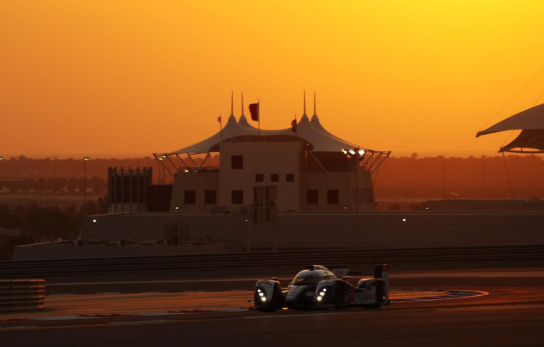Фото обои Закат, Поворот, Toyota, Circuit, WEC