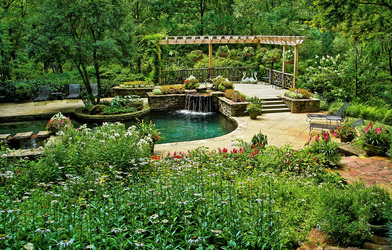 Обои цветы, сша, кусты, ball ground gibbs gardens. Природа foto 6