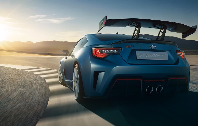 Фото обои фон, Subaru, вид сзади, Субару, БРЗ, BRZ