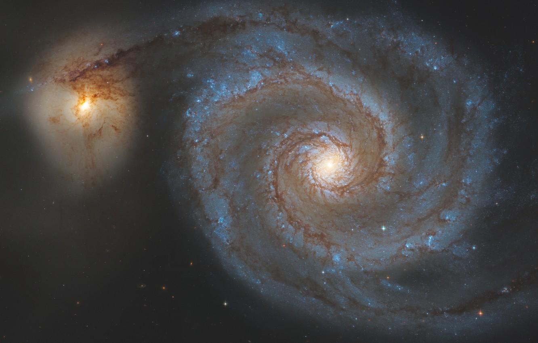Фото обои галактика, Гончие Псы, Водоворот, в созвездии