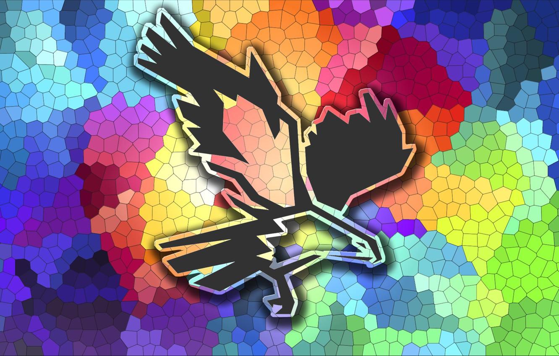 Фото обои абстракция, птица, орёл
