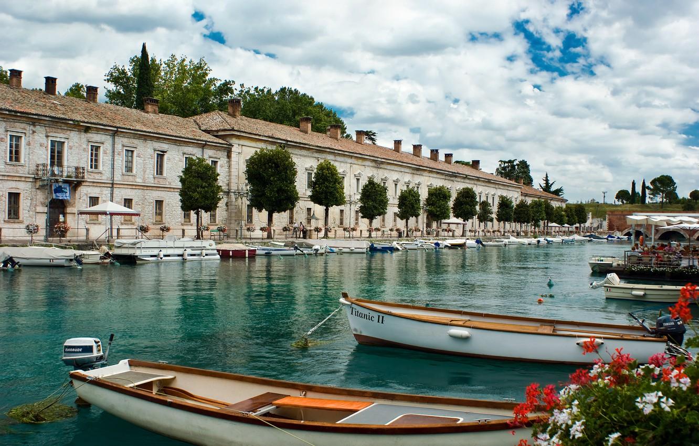 Обои Venezia, venice, italy, катер, канал, дома, венеция. Города foto 15