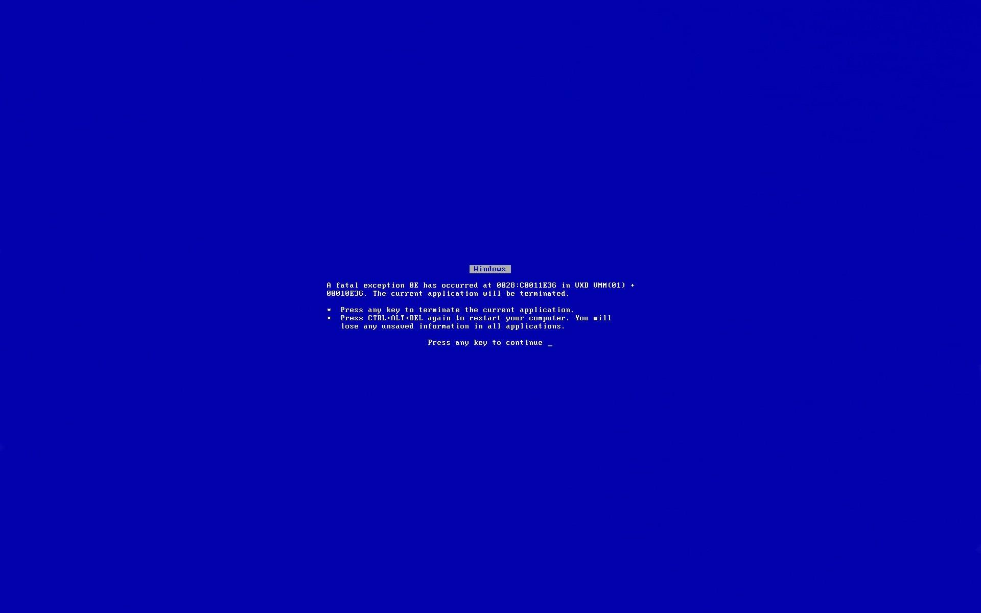 Синий Экран Обои На Рабочий Стол