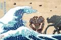 Картинка Pacific Rim, art, Jaeger, kaiju