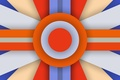 Картинка Design, Lollipop, 5.0, Blue, Stripes, Orange, Line, Abstraction, Circle, Android, Colors, Material