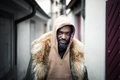 Картинка necklace, hood, street, man, to be continued..., people, beard, direct gaze
