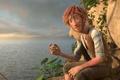 Картинка vegetation, red, rocks, Robinson Crusoe, explorer, adventure, redhead, movie, drawing, sky, red hair, film, cinema, ...