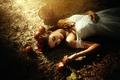 Картинка Белоснежка, по мотивам сказки, яблоки, девушка