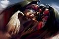 Картинка демон, схватка, Warhammer 40k, примарх, bloodthirster, сангвиниус