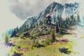Картинка гора, камни, пейзаж, The Witcher 3