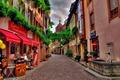 Картинка магазинчики, швейцария, мостовая, улочка