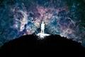 Картинка Земля, цвета, человек, краски, абстрактный, космос