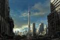 Картинка арт, развалины, машины, руины, разруха, город, постапокалиптика, торонто, toronto, здания
