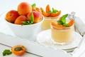 Картинка листики, apricots, десерт, dessert, leaves, абрикосы
