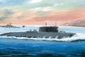 Картинка ВМФ, подводная лодка, АПЛ, атомная, Курск