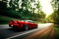 Картинка в движении, red, honda, nsx, car