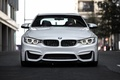 Картинка F82.tuning, Coupe, face, white, power, front, germany, turbo, angel eyes, BMW
