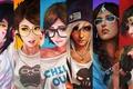 Картинка DV'a, Hanzo, Tracer, Art, Casual, Symmetra, Girls, Overwatch, Mei, Reaper