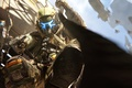 Картинка Titanfall, атака, pilot, шлем, трос, пистолет