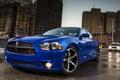 Картинка Машина, Синяя, Додж, Dodge, Car, Автомобиль, Charger, Wallpapers, Чарджер, Обоя, Передок, Daytona, Дайтона
