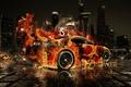 Картинка el Tony Cars, Supra, Toyota, Fire Car