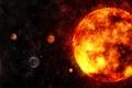 Картинка система, планеты, пространство, звезды, галактика
