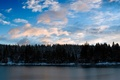 Картинка Вода, деревья, облака