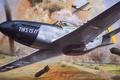 Картинка roy cross, арт, mustang, истребитель, p-51, рисунок, авиация, самолёт