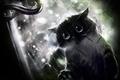 Картинка черный кот, ручка, окно, дождь