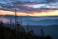 Картинка закат, горы, Clingman's Sunrise, природа